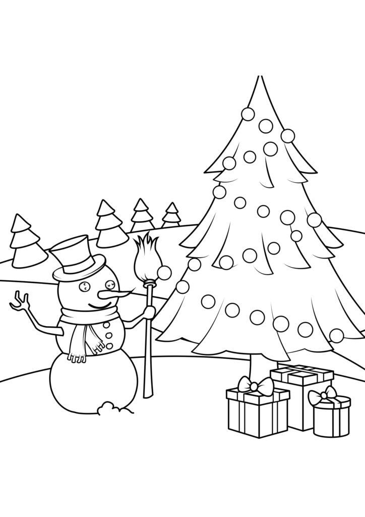 Omaľovánka - Vianoce - 14