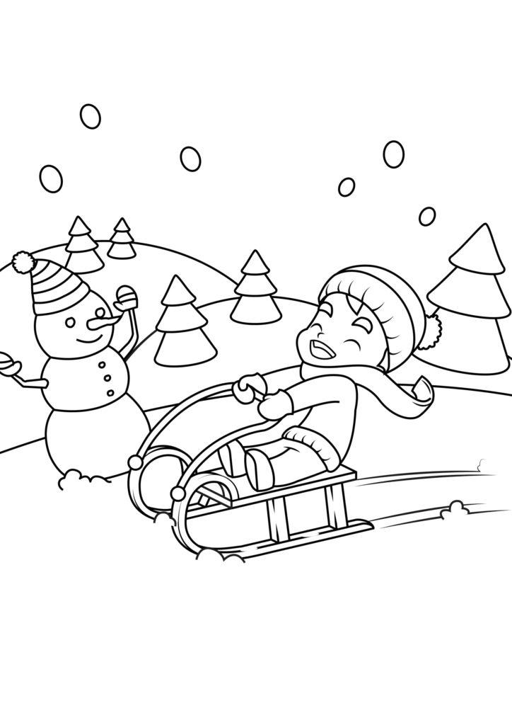 Omaľovánka - Vianoce - 16