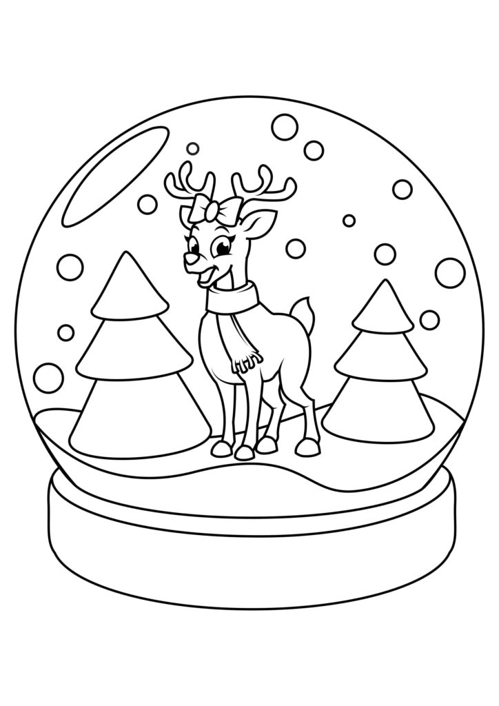 Omaľovánka - Vianoce - 17