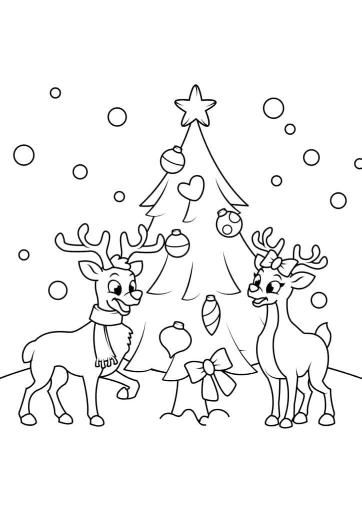 Omaľovánka - Vianoce - 2
