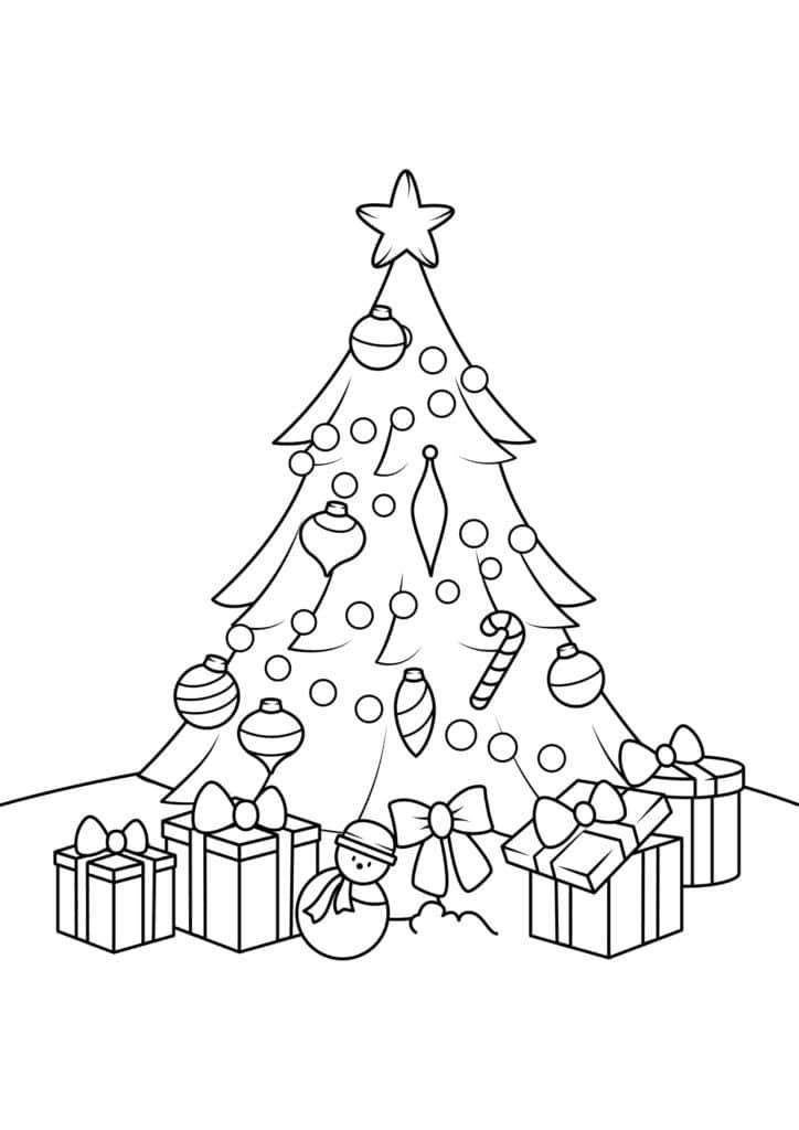 Omaľovánka - Vianočný stromček