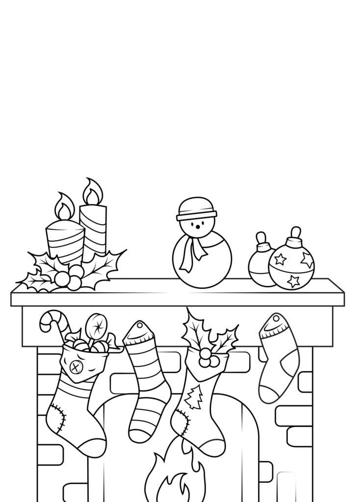 Omaľovánka - Vianoce - 5