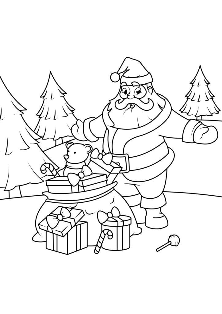 Omaľovánka - Vianoce - 8