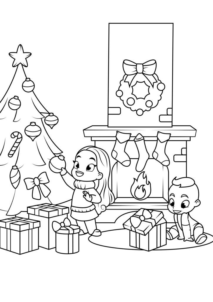 Omaľovánka - Vianoce - 9
