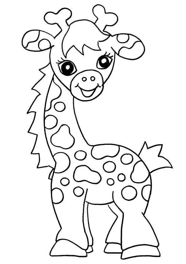 Omaľovánka - Žirafa - 1