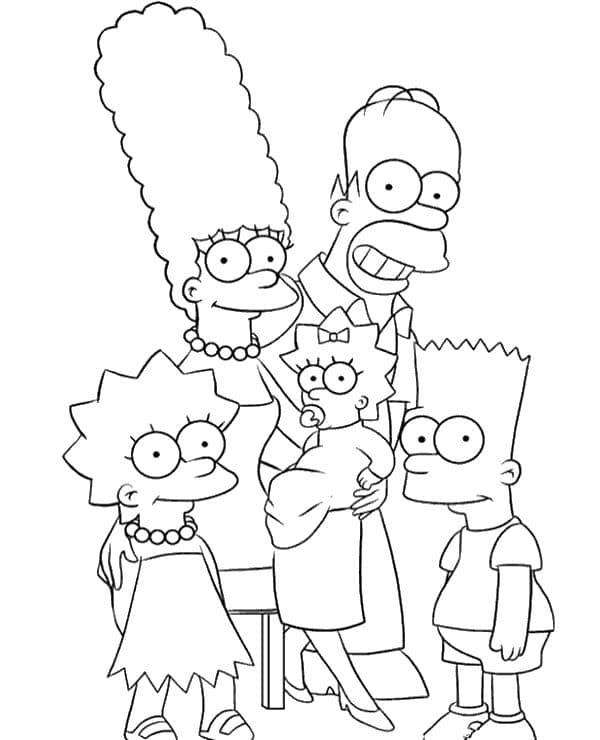 Omaľovánka - Simpsonovci - 5