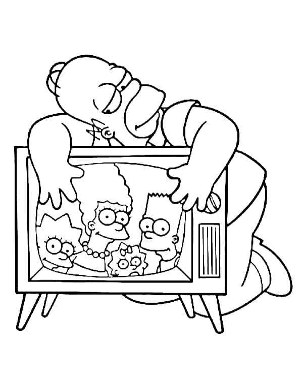 Omaľovánka - Simpsonovci - 8