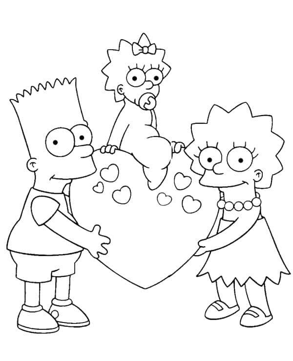 Omaľovánka - Simpsonovci - 9