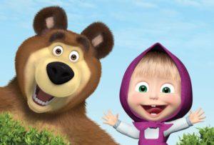 Rozprávka Máša a medveď v angličtine